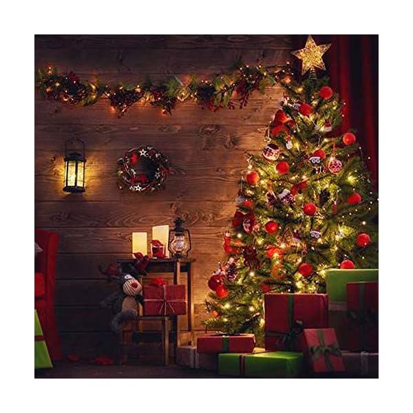 SYCEES Nastro Catena Luci 200 LED 23M Bianco Caldo da Interno 8 Effetti di Lampeggio/Funzione di Memoria/ IP44 / Luce Feste Natale Matrimonio Giardino Patio Mostra Vetrina (bianco caldo 200 led) 5 spesavip
