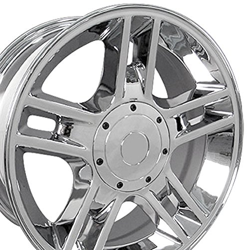 F150 Chrome Rims (20x9 Wheel Fits Ford Trucks & SUV's - F-150 Harley Style Chrome Rim, Hollander 3410)