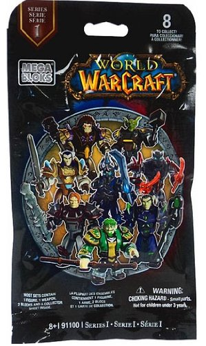 World of Warcraft Mega Bloks #91100 Series 1 Mystery Pack [1 Random Figure] (World Of Warcraft Series compare prices)