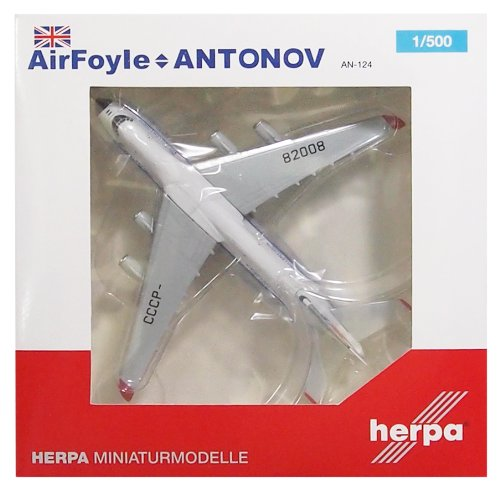 HE524865 Herpa Wings Air Foyle-Antonov Airlines AN124 1:500 Model Airplane
