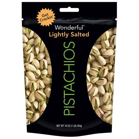 Wonderful® Lightly Salted Pistachios 16 oz. Bag - 3 Bags by The Brittle Box Candy Co.