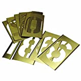 15 Piece Single Number Sets, Brass, 2 in (15 Pack)