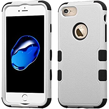 Asmyna Cell Phone Case for Apple IPhone 7 - Natural Gray/Black