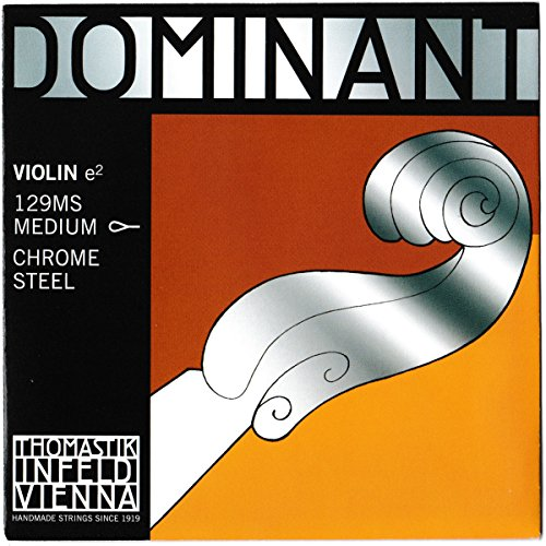 Dr Thomastik-Infeld 129MS Dominant Violin String, Single E String, 129, 4/4 Size, Chrome Steel, Loop End (Loop Core Steel)