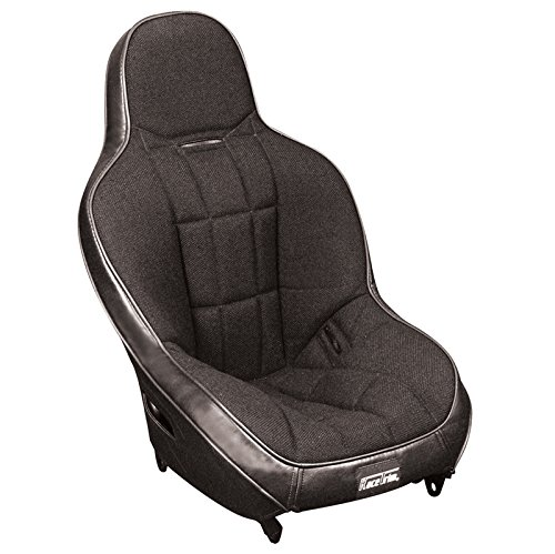 Back Suspension Seat - Empi 62-2771 Race Trim Child Suspension Hi-Back Seat - Black Cloth / Black Vinyl