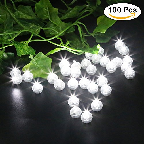 Accmor 100pcs LED Mini Round Ball Balloon Light, Long Standby Time Ball Lights for Father's Day Gift Paper Lantern Balloon Party Wedding (Disco Decorations To Make)