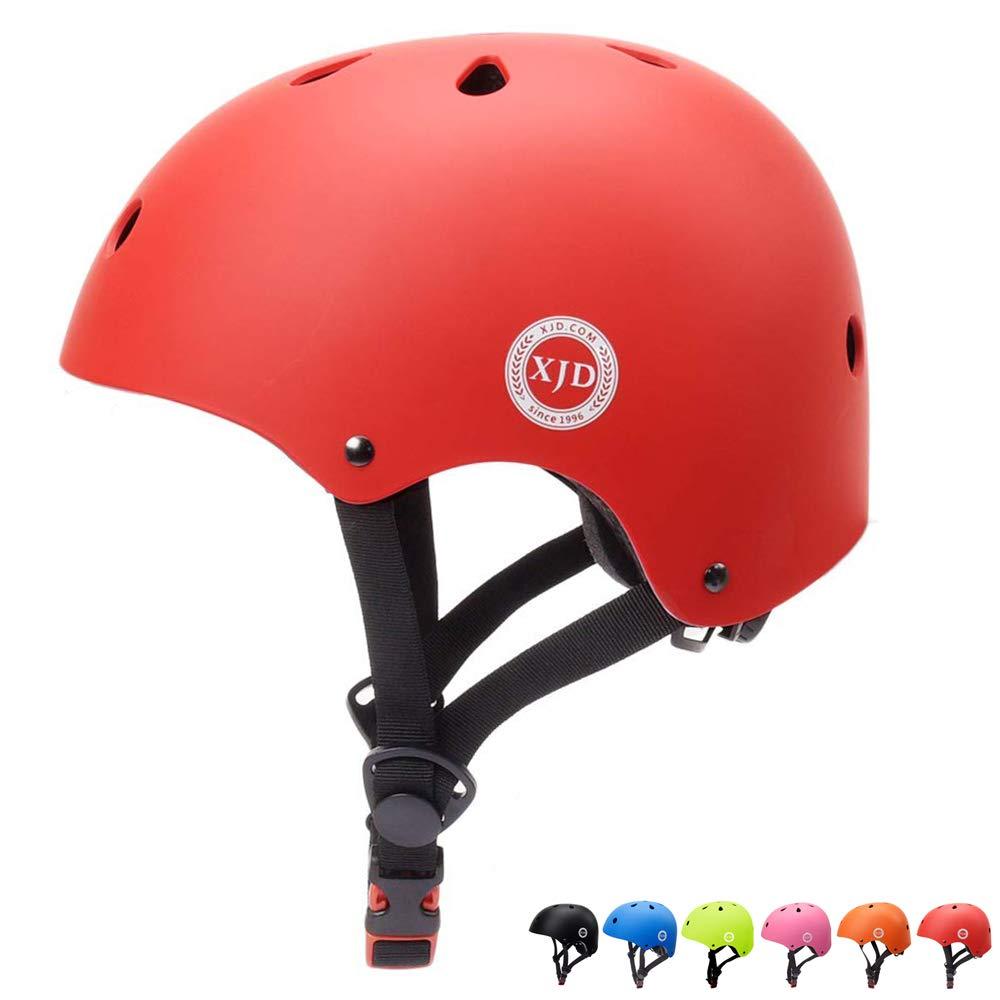 XJD Kids Bike Helmet Toddler Helmet Adjustable Kids Helmet CPSC Certified Ages 3-8 Years Old Boys Girls Multi-Sport Safety Cycling Skating Scooter Helmet (Red