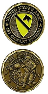 US Army 1st Cavalry Challenge Coin