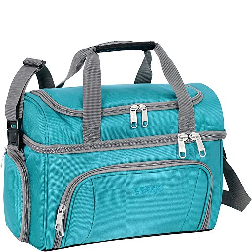 eBags Crew Cooler II Soft Sided Insulated Lunch Box - For Work, Travel & Weekends - (Tropical Turquoise)