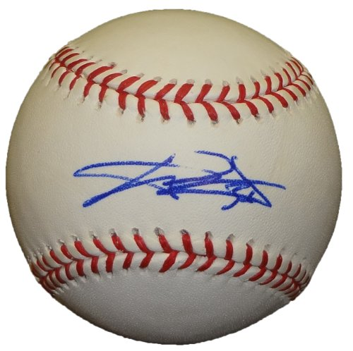 - C.J. Wilson Autographed Official Major League Baseball W/PROOF, Picture of CJ Signing For Us, Texas Rangers, 2010 World Series, 2011 World Series, Los Angeles Angels of Anaheim