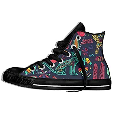 Sugar Tattoo Girl High Top Canvas Shoes Classic Style Unisex Non Slip Athletic Loafers For Youth