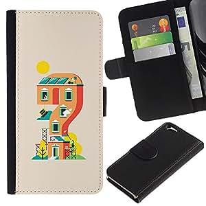 EJOY---Tirón de la caja Cartera de cuero con ranuras para tarjetas / Apple Iphone 6 / --Mario nivel