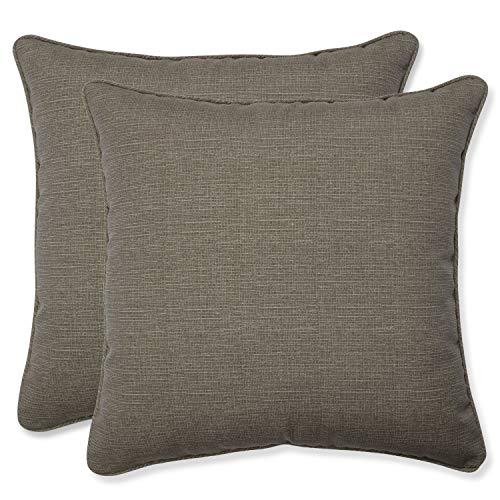 Pillow Perfect Decorative Textured Solid Square Toss Pillows, 18 1/2