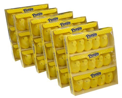 Marshmallow Peeps Yellow Bunnies 3.3/8 Ounce 12-Count Boxes