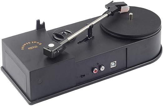 Rainandsnow Portátil Mini USB 2,0 Tocadiscos LP Reproductor de ...
