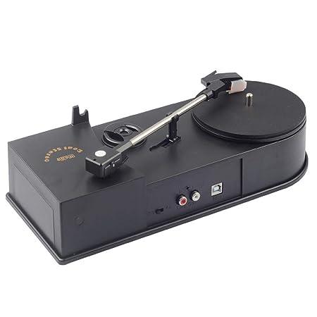 Rainandsnow Portátil Mini USB 2,0 Tocadiscos LP Reproductor ...