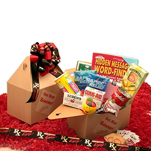 Gift Basket 819162 Get Well Sooner Care Package - Gadgets and Gifts (Get Well Basket Soup)