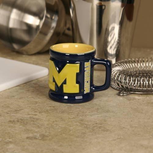 Michigan Wolverines Navy Blue 2 oz. Sculpted Team Shot Mug