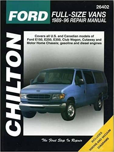 93 ford e 250 wiring diagram ford full size vans  1989 96  chilton total car care series  ford full size vans  1989 96  chilton