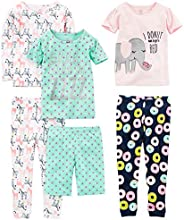 Simple Joys by Carter's Girls' Toddler 6-Piece Snug Fit Cotton Pa