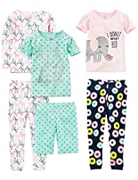 Simple Joys by Carter's Girls' Toddler 6-Piece Snug Fit Cotton Pajama Set