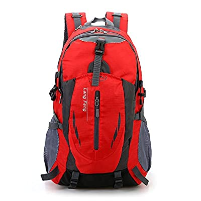 MOXMJY Camping Backpack Outdoor Sports Waterproof 35 Liter Large Capacity Infinity Fashionable Daypack Laptop Tent Bag