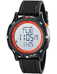 Unisex 10017007 Navigator Digital Black Watch with Orange Accents