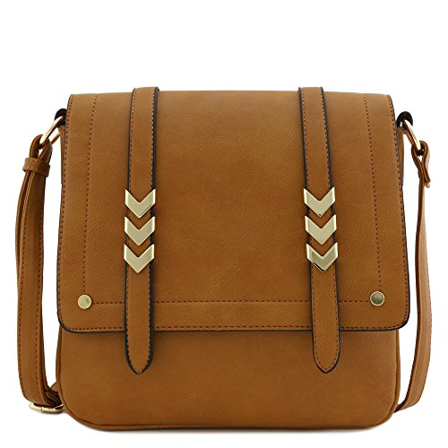 Double Compartment Large Flapover Crossbody Bag (Cross Body)