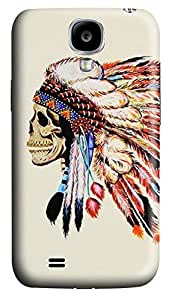 S4 Case, Samsung S4 Case, Customized Protective Samsung Galaxy S4 Hard 3D Cases - Personalized Skull Tattoo Cover