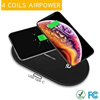Etlephe Fast Charging Station with Qi Certified Wireless 10W Fast Charging Pad