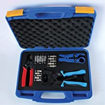 Professional Compression Crimping Tool Kit for RG6 RG59 RG11 BNC RCA