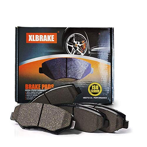 XLBRAKE Ceramic Brake Pads Front For Chevy Malibu Alero Cutlass Pontiac Grand Am 1999 2000 2001 2002 2003 2004 (Parts Alero)