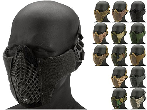 Evike - Matrix Low Profile Iron Face Padded Lower Half Face Mask (Color: Black) - (67134)