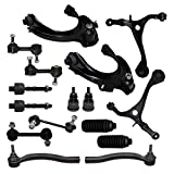 lower control arm honda accord - Detroit Axle - New 16-Piece Front Suspension Kit - (4) Front Upper and Lower Suspension Control Arms & Ball Joints, (4) Front and Rear Stabilizer Sway Bar End Links; Acura TSX; Accord 2.4L ONLY