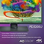 BenQ 32 inch, 4K UHD Monitor, IPS Panel, sRGB and Rec. 709 PD3200U Gray/Gloss Gray