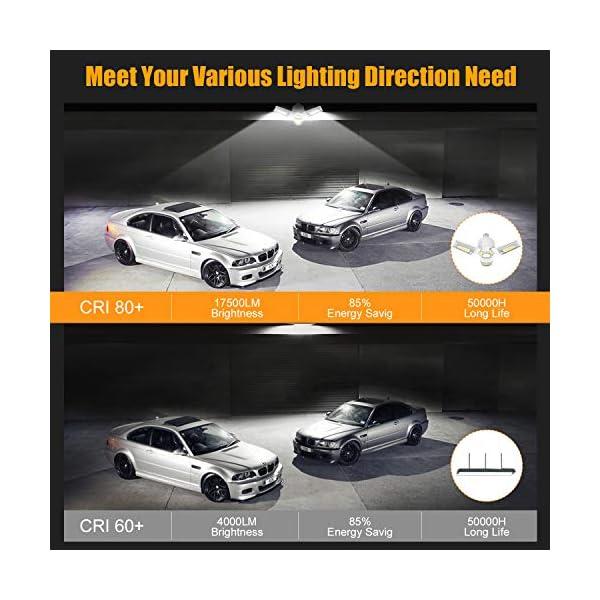 LED Garage Lights 125W Ceiling Lights E26 Deformable Three-Leaf Garage Light 14,000lm Tribright LED Adjustable Light… 2