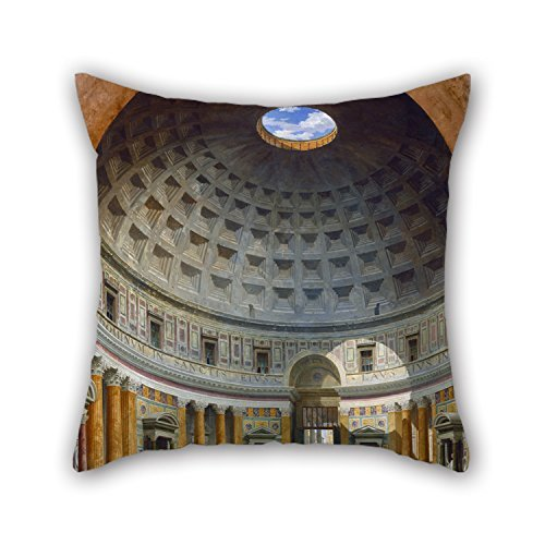 - Pillow Cases Of Oil Painting Giovanni Paolo Panini - Interior Of The Pantheon, Rome 20 X 20 Inches / 50 By 50 Cm Best Fit For Valentine Dance Room Lounge Sofa Wedding Home Twice Sides