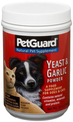 Pet Guard, Yeast and Garlic (Powder) Supplement for Dogs and Cats, 12-Ounce Canisters (Pack of 3), My Pet Supplies