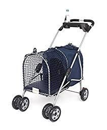 Kittywalk Fifth Avenue Pet Stroller, For Pets Up to 25 Pounds, Blue