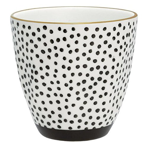 GreenGate- Latte cup- Cup Dot black w/gold