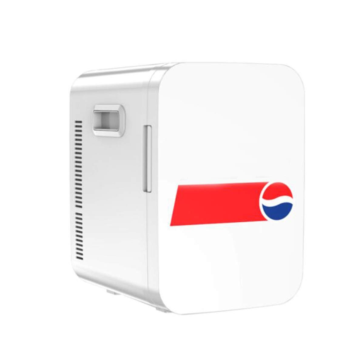 Car Refrigerator, Car Dual-use Small Refrigerator, Mini Small Mini Dormitory Office Single Door Heating and Cooling Box (Color : White)
