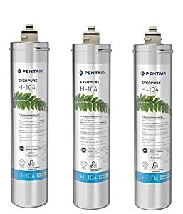 Everpure H-104 Water Filter Replacement Cartridge (EV9612-11) (Pack of 3)
