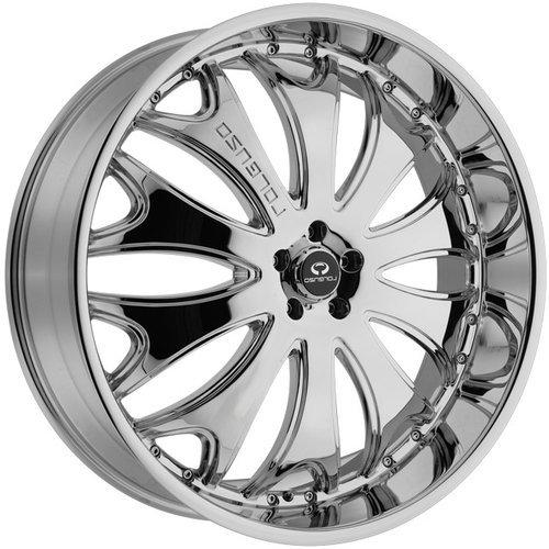 "Lorenzo WL29 Wheel with Gloss Black Machined (20x10""/5x4.5"")"