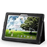 Acase Leather Case Folio with Multi View Stand for Asus TF201 Eee Pad Transformer Prime 10.1-Inch  tablet, Black (ACS-1005MFBK-TF201)