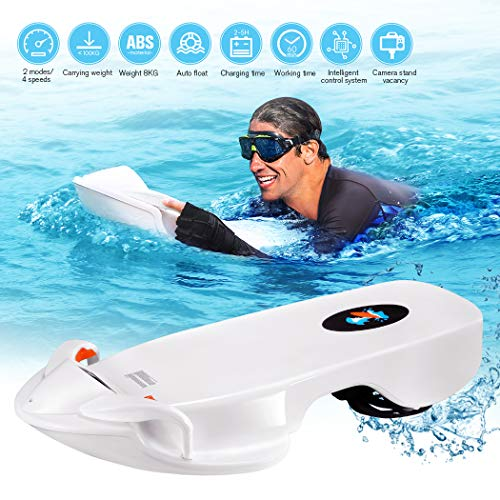 Electric Surfboard, 2019 Underwater Scooter Surf Board Sea Scooter 4-Level Rotational Speed,Electric Water Skateboard Surfboard Suitable for Swimming,Surfing,Shallow Dives (Best Longboard Surfboards 2019)