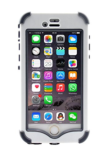 "Price comparison product image LifeBox iPhone 6 Rugged Protection Case - Waterproof Dustproof Shockproof Snowproof Crash Proof - Retail Packaging - Apple iPhone 6 4.7"" (White)"