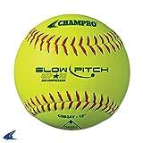 "CHAMPRO GSP-52 ASA Softball, Optic Yellow, 12"""