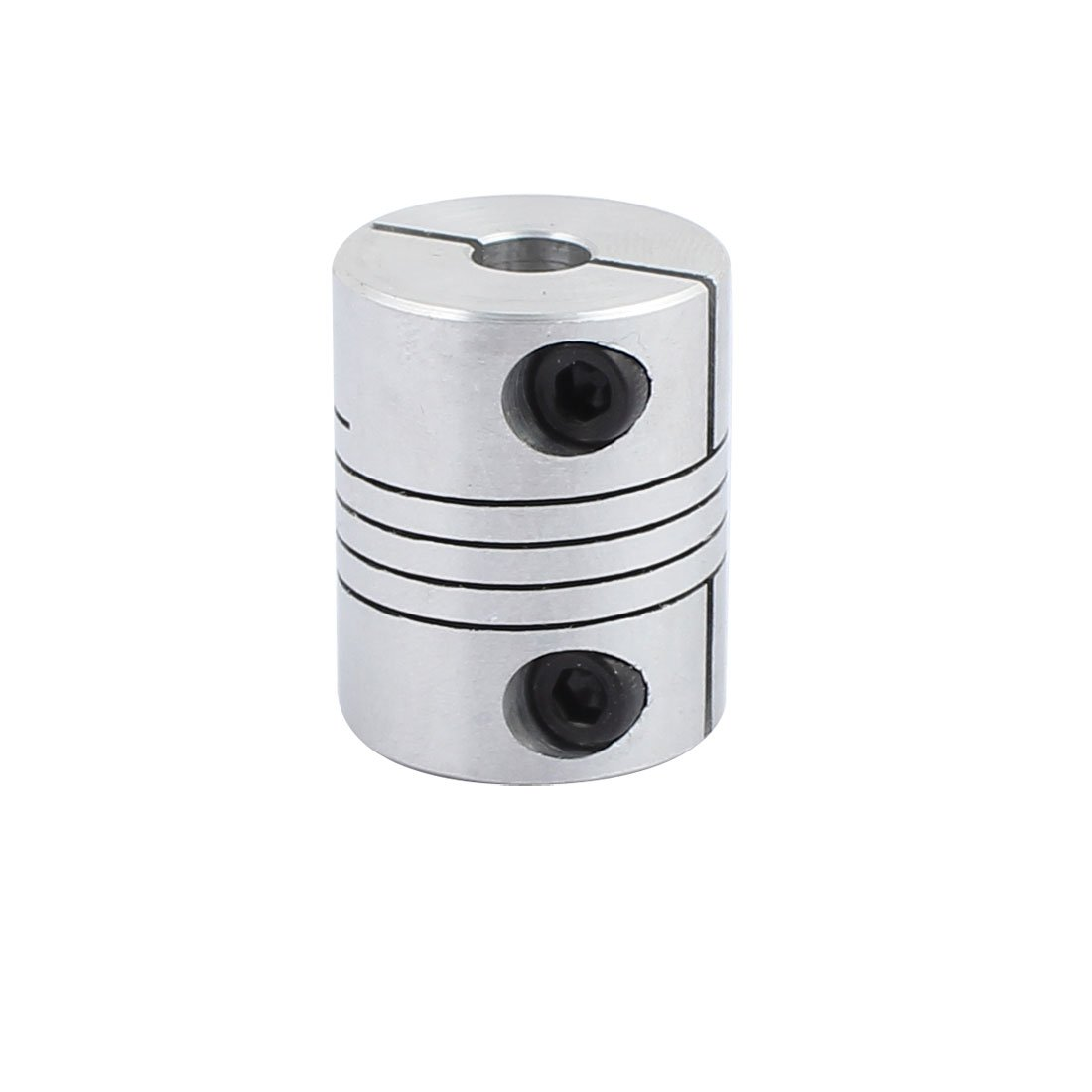 uxcell 5mm to 10mm Shaft Coupling 30mm Length 25mm Diameter Stepper Motor Coupler Aluminum Alloy Joint Connector for 3D Printer CNC Machine DIY Encoder