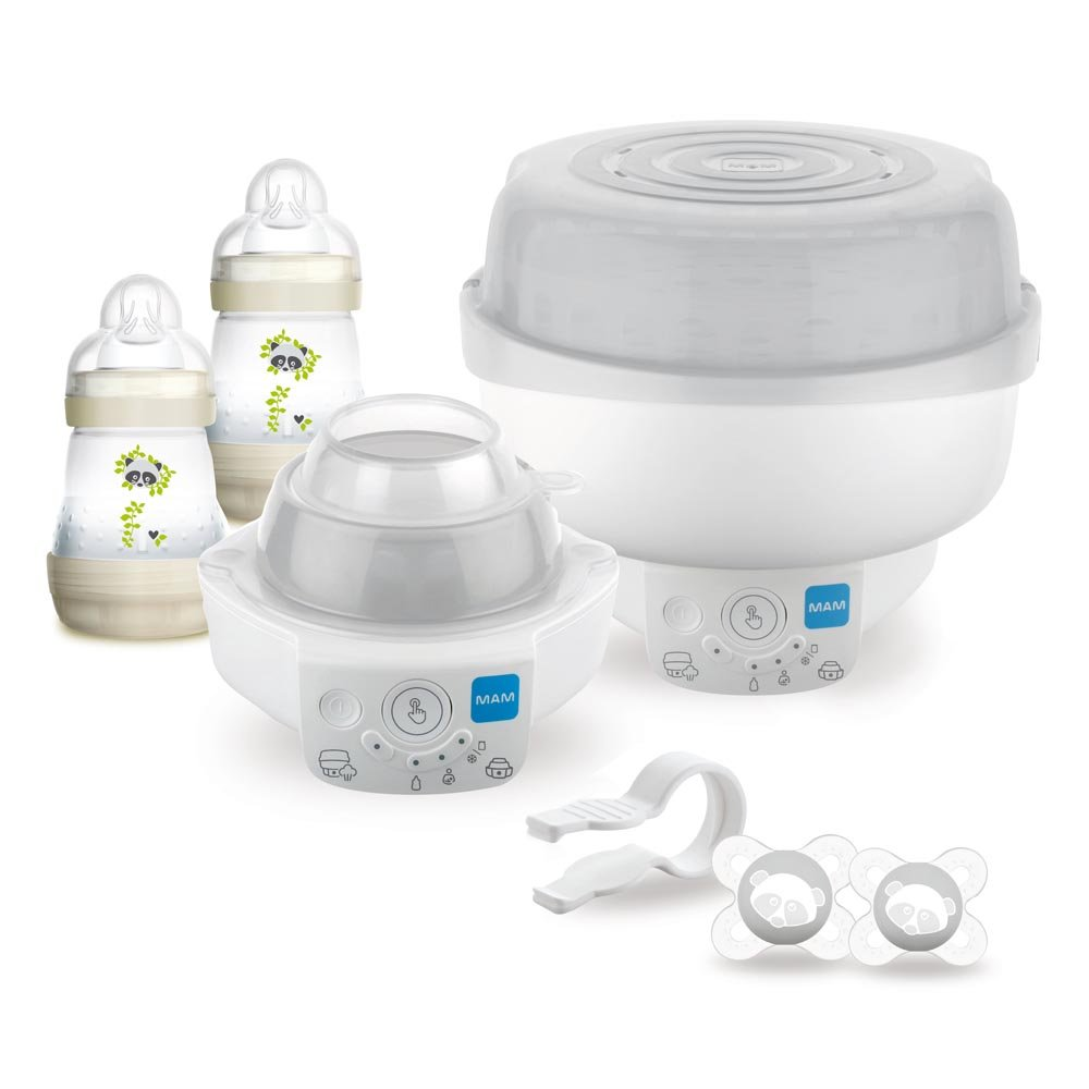 3860b7aaf0b MAM 6 in 1 Electric Steriliser   Express Bottle Warmer  Includes 2 x 160ml  Easy Start Anti-Colic Bottles   2 x Start Soothers  Amazon.co.uk  Baby