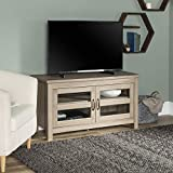"WE Furniture AZ44CFDAG 44"" Wood TV Stand, Driftwood"